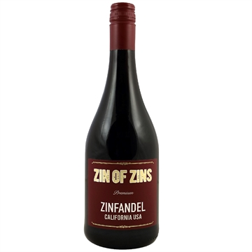 ZIN OF ZINS ZINFANDEL CALIFORNIA